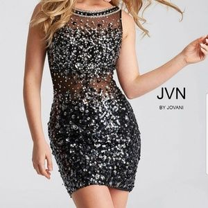 See through back Jovani dress.